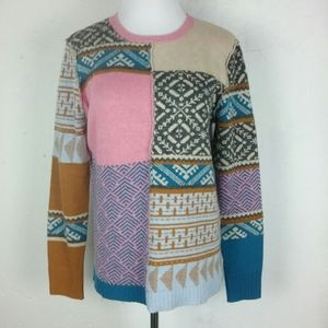 Sundance Patchwork Fields of Fair Sweater Small